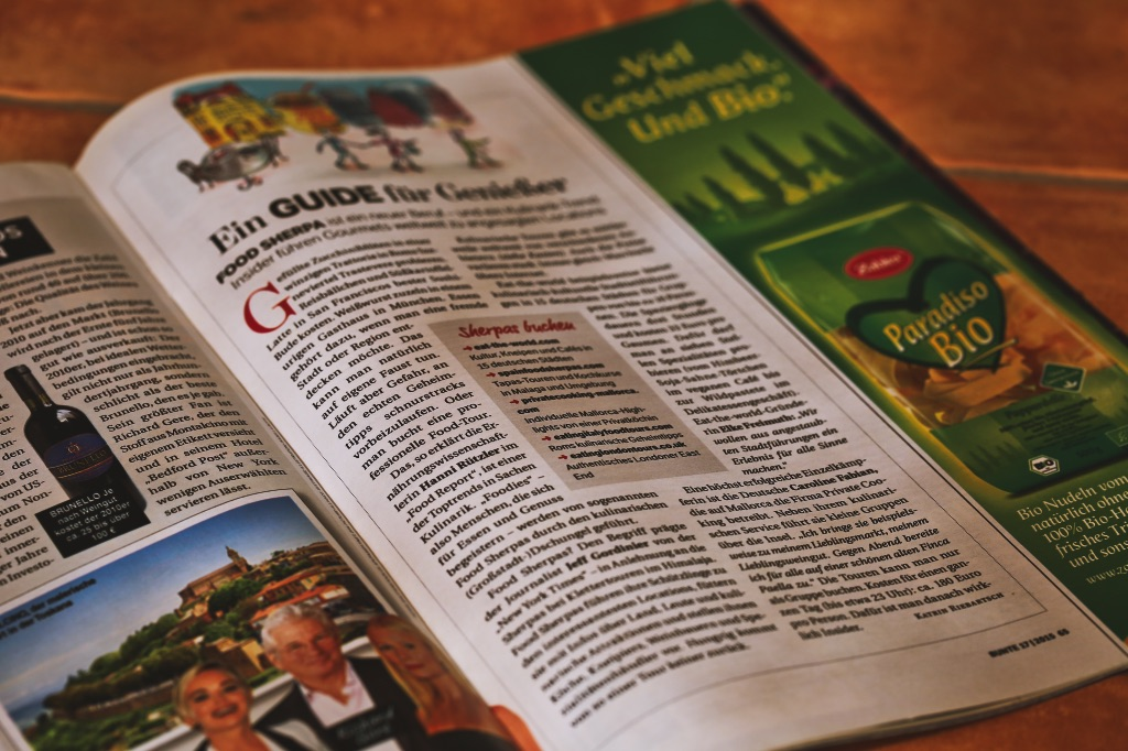"""""""Food-Touren"""" als Insider Urlaubstipp der Zeitschrift BUNTE"""