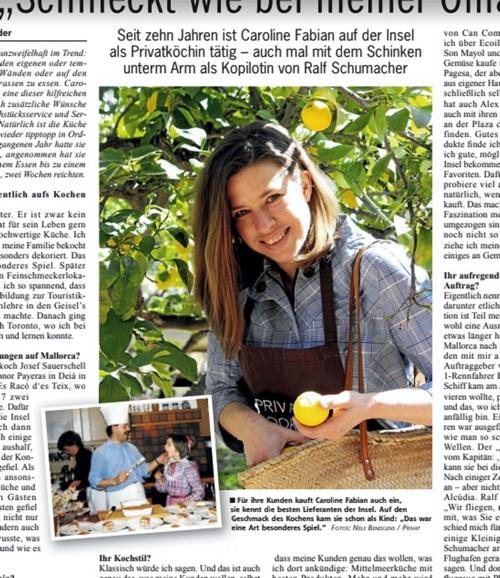 Caroline Fabian Mallorca Zeitung
